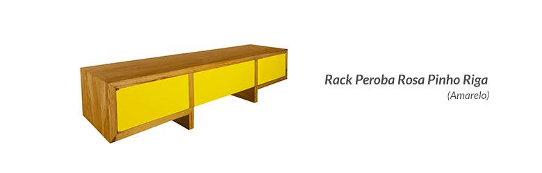 Rack Peroba Rosa Pinho Riga (Amarelo)