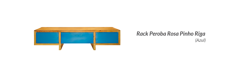 Rack Peroba Rosa Pinho Riga (Azul)